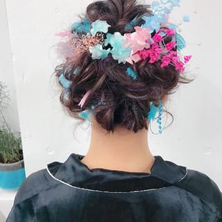 簡単ヘアアレンジ ハーフアップ ショート ゆるふわ ヘアスタイルや髪型の写真・画像