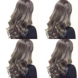 アッシュ 外国人風 グラデーションカラー ガーリー ヘアスタイルや髪型の写真・画像