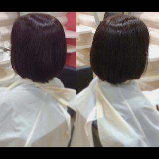 髪質改善トリートメント ミニボブ ボブ 髪質改善 ヘアスタイルや髪型の写真・画像