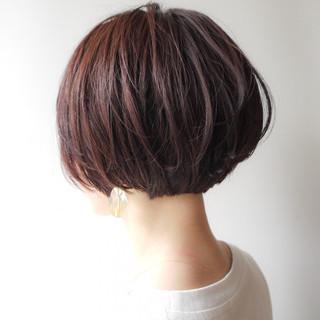 女子力 ショートボブ オフィス ショート ヘアスタイルや髪型の写真・画像