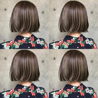 切りっぱなしボブ ミニボブ モード ショートヘア ヘアスタイルや髪型の写真・画像