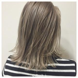 ハイライト ボブ グラデーションカラー ダブルカラー ヘアスタイルや髪型の写真・画像
