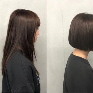 簡単 ナチュラル 艶髪 ストレート ヘアスタイルや髪型の写真・画像
