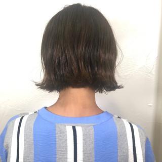ナチュラル 切りっぱなしボブ ミニボブ ボブ ヘアスタイルや髪型の写真・画像
