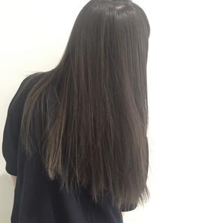 ロング 暗髪 ハイライト 外国人風 ヘアスタイルや髪型の写真・画像