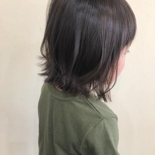 外ハネ 夏 ナチュラル ボブ ヘアスタイルや髪型の写真・画像