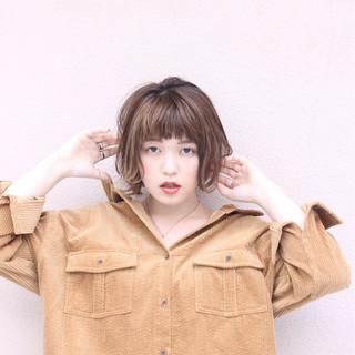 ナチュラル ハイライト 女子力 ショート ヘアスタイルや髪型の写真・画像