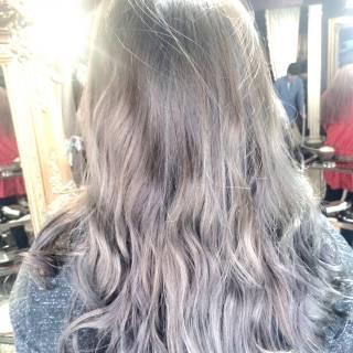 モテ髪 暗髪 ガーリー ウェットヘア ヘアスタイルや髪型の写真・画像