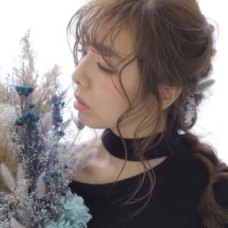 こなれ感 大人かわいい 編みおろし ロング ヘアスタイルや髪型の写真・画像
