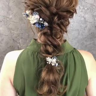 結婚式 大人かわいい 大人女子 ヘアアレンジ ヘアスタイルや髪型の写真・画像