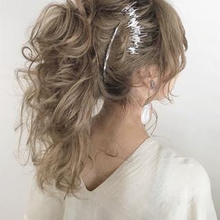 涼しげ デート 夏 ロング ヘアスタイルや髪型の写真・画像