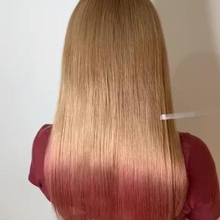 ロング トリートメント 最新トリートメント 美髪 ヘアスタイルや髪型の写真・画像