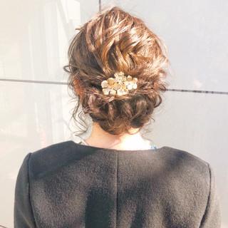 結婚式 ヘアアレンジ デート ナチュラル ヘアスタイルや髪型の写真・画像 ヘアスタイルや髪型の写真・画像