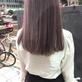 ストリート グレージュ グレー ピンク ヘアスタイルや髪型の写真・画像