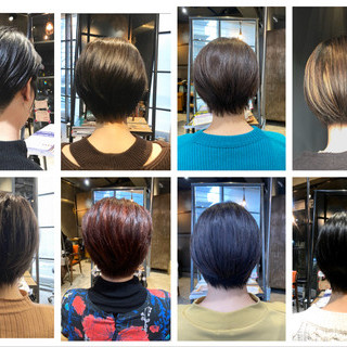 ショート 透明感 ハンサムショート oggiotto ヘアスタイルや髪型の写真・画像