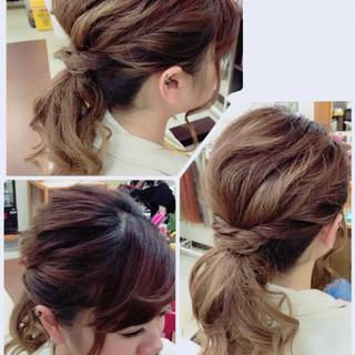 ナチュラル ローポニーテール 簡単ヘアアレンジ 夏 ヘアスタイルや髪型の写真・画像 ヘアスタイルや髪型の写真・画像