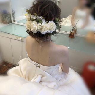 アップ フェミニン ヘアアレンジ 結婚式ヘアアレンジ ヘアスタイルや髪型の写真・画像 ヘアスタイルや髪型の写真・画像