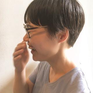 ショートパーマ マッシュショート ショートボブ マッシュヘア ヘアスタイルや髪型の写真・画像