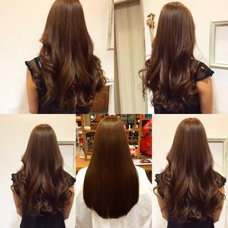 秋 ロング ナチュラル ショコラブラウン ヘアスタイルや髪型の写真・画像