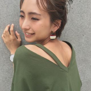 ガーリー 簡単ヘアアレンジ 夏 大人かわいい ヘアスタイルや髪型の写真・画像