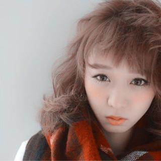 ガーリー 外国人風 ゆるふわ 前髪あり ヘアスタイルや髪型の写真・画像