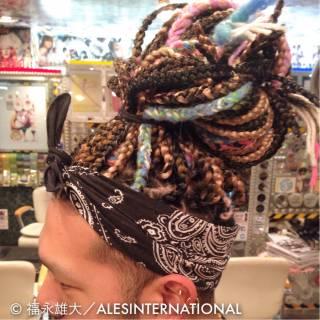 三つ編み 春 ストレート ヘアアレンジ ヘアスタイルや髪型の写真・画像