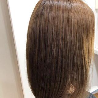 ストレート 縮毛矯正ストカール ナチュラル 縮毛矯正 ヘアスタイルや髪型の写真・画像 ヘアスタイルや髪型の写真・画像