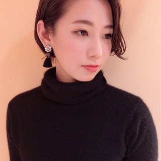 大人かわいい アンニュイ ナチュラル ショートボブ ヘアスタイルや髪型の写真・画像