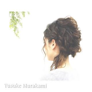 二次会 大人かわいい ハーフアップ 結婚式 ヘアスタイルや髪型の写真・画像