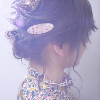 結婚式 ゆるふわ ガーリー ヘアアレンジ ヘアスタイルや髪型の写真・画像