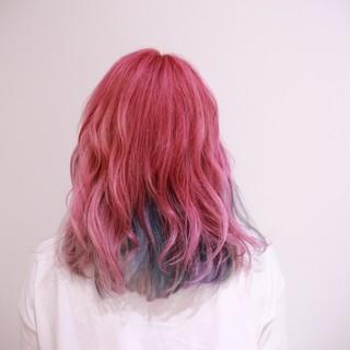 ハイトーン ブリーチ ガーリー カラートリートメント ヘアスタイルや髪型の写真・画像