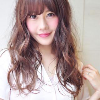 透明感 外国人風カラー ピンク ガーリー ヘアスタイルや髪型の写真・画像
