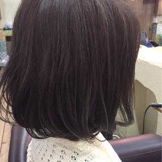 暗髪 ナチュラル 色気 アッシュ ヘアスタイルや髪型の写真・画像