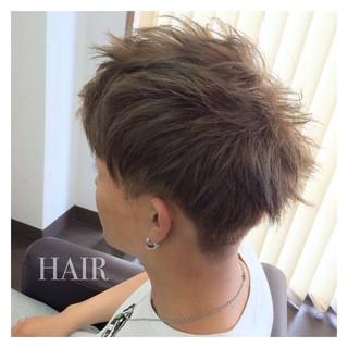 アッシュ ボーイッシュ ショート 刈り上げ ヘアスタイルや髪型の写真・画像