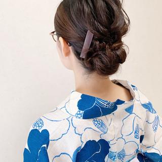 アップスタイル ボブ ナチュラル ミニボブ ヘアスタイルや髪型の写真・画像