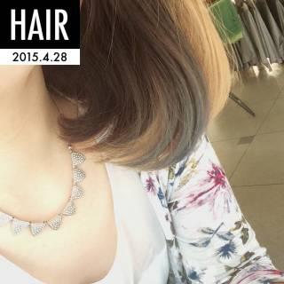 ハイトーン グラデーションカラー アッシュ ヘアスタイルや髪型の写真・画像