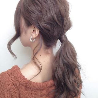 簡単ヘアアレンジ モテ髪 ポニーテール 愛され ヘアスタイルや髪型の写真・画像