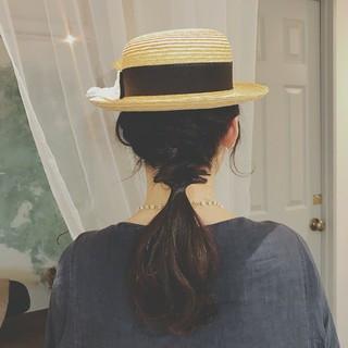 夏 アウトドア デート 涼しげ ヘアスタイルや髪型の写真・画像