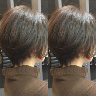 ナチュラル可愛い ショート ショートボブ フェミニン ヘアスタイルや髪型の写真・画像