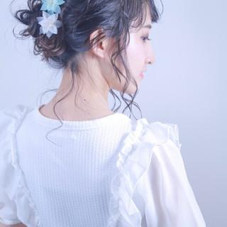 デート フェミニン 成人式 ヘアアレンジ ヘアスタイルや髪型の写真・画像