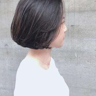 簡単スタイリング ナチュラル ボブ ショートボブ ヘアスタイルや髪型の写真・画像
