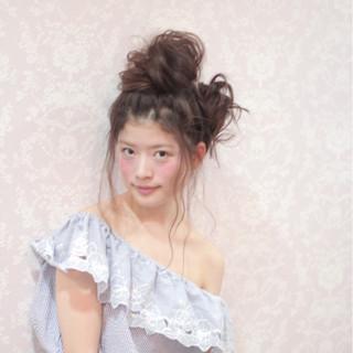 ロング ヘアアレンジ 夏 外国人風 ヘアスタイルや髪型の写真・画像