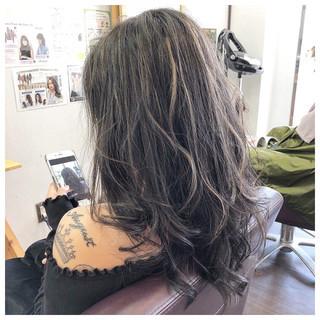 ミディアム ハイライト モード 外国人風 ヘアスタイルや髪型の写真・画像