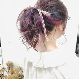 編み込みリボンでガーリーなヘアスタイルに♡アレンジ方法とヘアカタログ