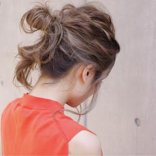セミロング 大人かわいい 簡単ヘアアレンジ ショート ヘアスタイルや髪型の写真・画像