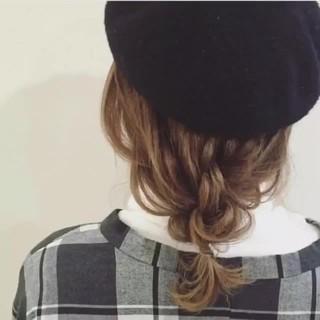 ハイライト セミロング ナチュラル ヘアアレンジ ヘアスタイルや髪型の写真・画像