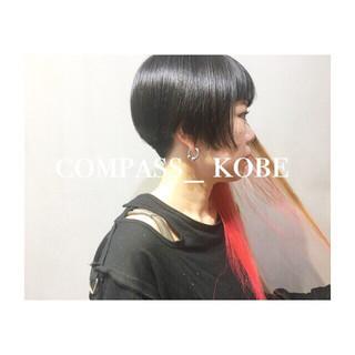 バイオレットアッシュ アッシュベージュ ボブ パープル ヘアスタイルや髪型の写真・画像