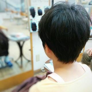 ショート 黒髪 子供 暗髪 ヘアスタイルや髪型の写真・画像 ヘアスタイルや髪型の写真・画像