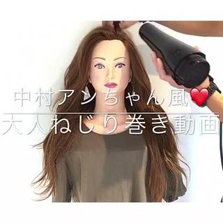 ロング 女子会 デート カール ヘアスタイルや髪型の写真・画像