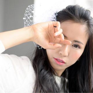 外国人風 フェミニン ロング ヘアアレンジ ヘアスタイルや髪型の写真・画像